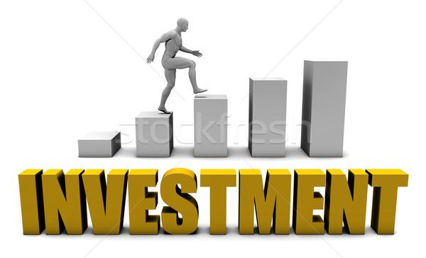Inversión negocios proceso empresarial oro Foto stock © kentoh