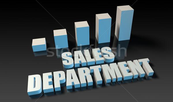 De vendas departamento gráfico traçar 3D azul Foto stock © kentoh