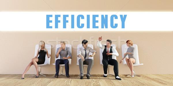 Negocios eficiencia grupo reunión hombre fondo Foto stock © kentoh