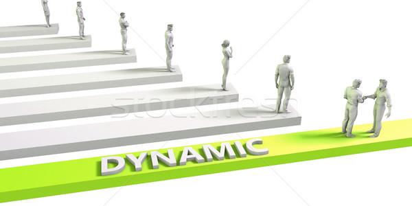 динамический успешный бизнеса человека бизнесмен Сток-фото © kentoh