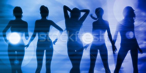 Vacaciones diversión damas mujer playa música Foto stock © kentoh