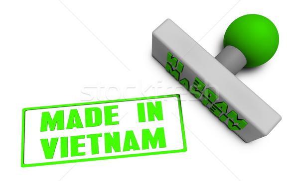Made in Vietnam Stamp Stock photo © kentoh