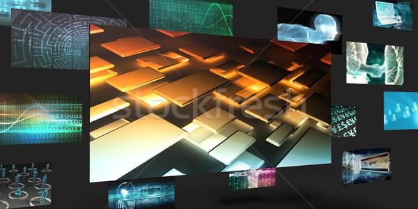 Données transférer ventes marketing résumé mur Photo stock © kentoh