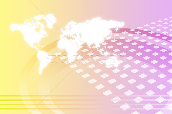 Corporativo mundial crescimento abstrato mapa internet Foto stock © kentoh