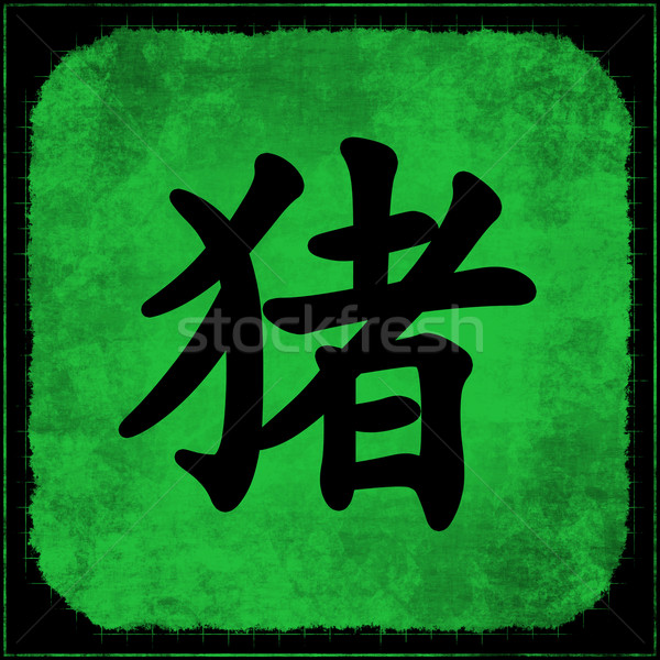 Pig - Chinese Astrology Stock photo © kentoh