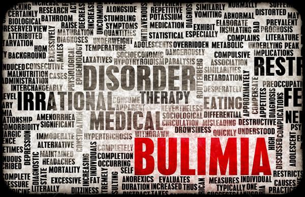 Bulimia tıbbi tanı arka plan kavram sağlık Stok fotoğraf © kentoh