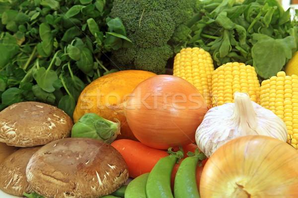 Friss hozzávalók termény főzés ételek szett Stock fotó © kentoh