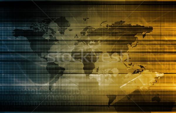 Stockfoto: Gegevens · integratie · netwerk · globale · schaal · business