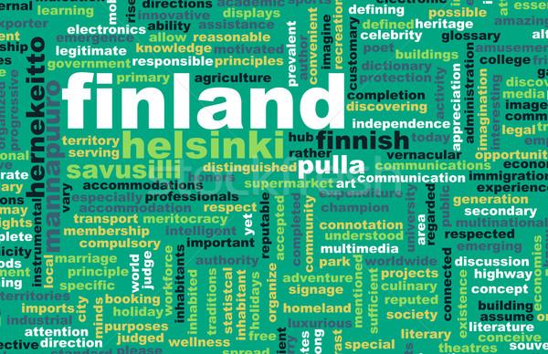 Финляндия Хельсинки аннотация искусства бизнеса город Сток-фото © kentoh