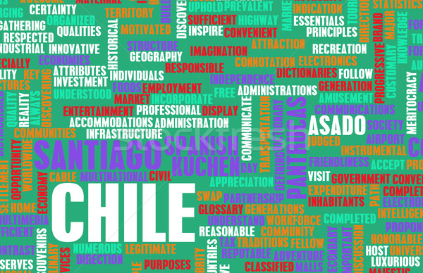 Chile país abstrato arte negócio futebol Foto stock © kentoh