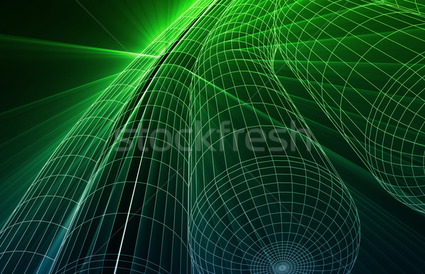 Wireframe Mesh Abstract Stock photo © kentoh