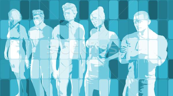 Team geest business team missie business mannen Stockfoto © kentoh