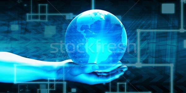 Dünya ağ teknoloji iş soyut dizayn Stok fotoğraf © kentoh