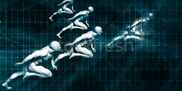 ビジネス コーチング 男性 を実行して オフィス グループ ストックフォト © kentoh