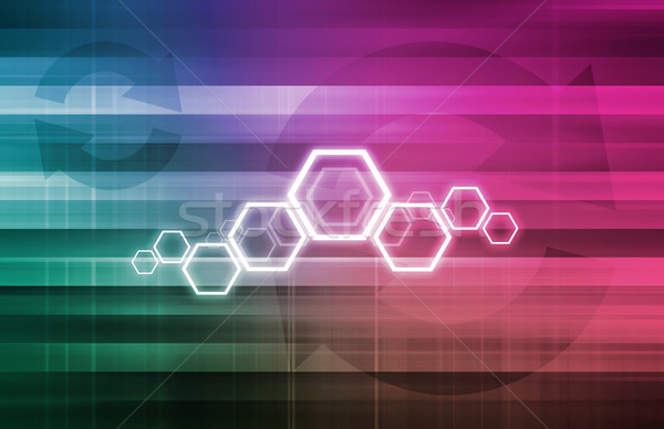 Projektu inżynierii nauki nowoczesne streszczenie technologii Zdjęcia stock © kentoh
