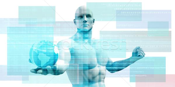 Sécurisé technologie réseau web données transférer Photo stock © kentoh