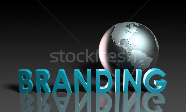 Global branding conciencia marca nombre fondo Foto stock © kentoh