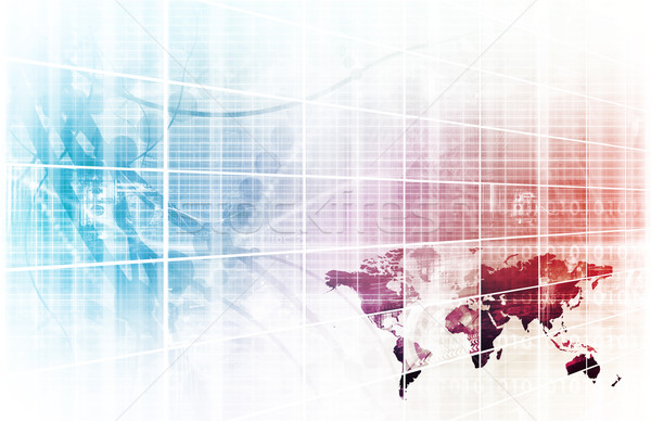 Informatika üzlet internet absztrakt orvosi fény Stock fotó © kentoh