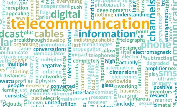 Telekommunikáció net globális ipar világ hálózat Stock fotó © kentoh