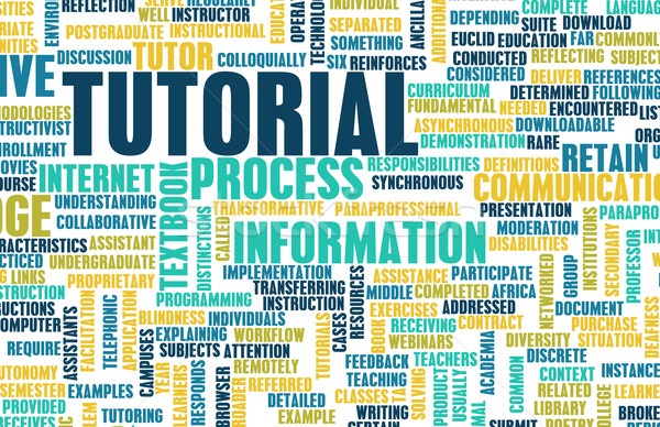 Tutorial módszer tanul online ipar tanul Stock fotó © kentoh