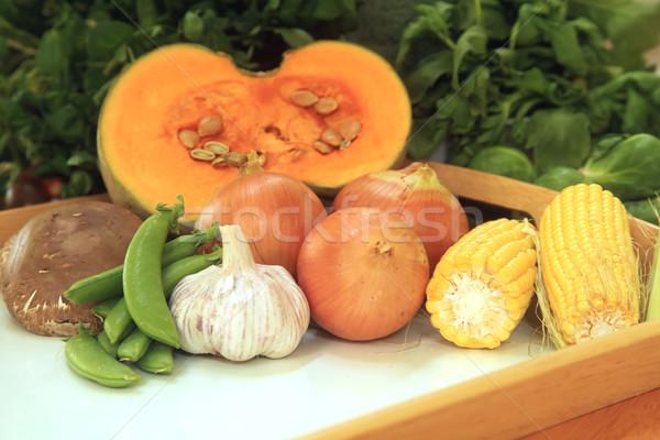 Groenten vaak gebruikt koken industrie chef Stockfoto © kentoh
