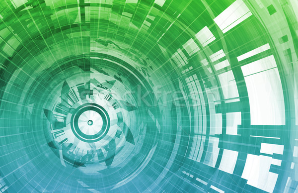 Bemutató technológia internet háttér mező hálózat Stock fotó © kentoh