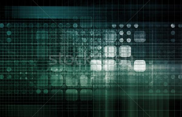 Software tecnologia dati arte modello web Foto d'archivio © kentoh