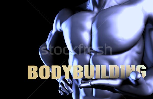 Bodybuilding homme d'affaires industrie noir formation Photo stock © kentoh