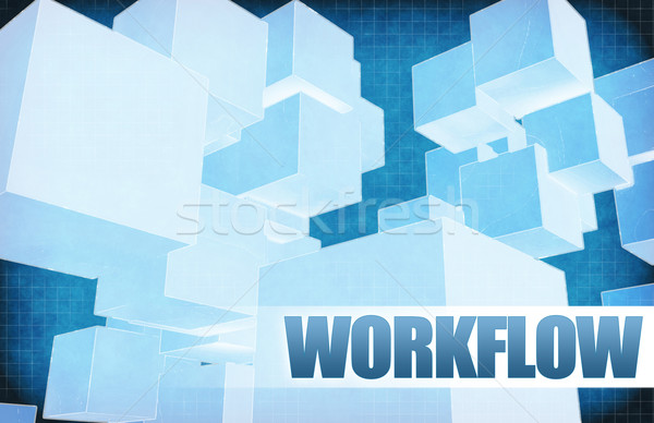 Workflow futuristische abstract presentatie slide achtergrond Stockfoto © kentoh