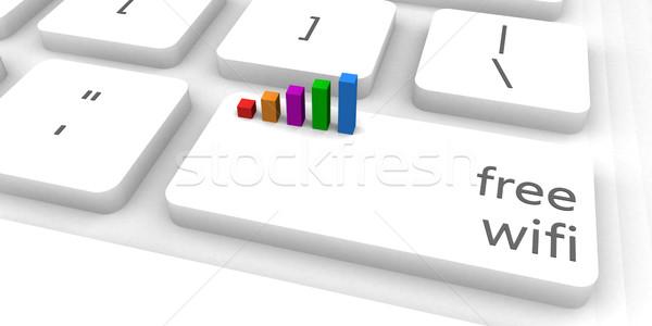 Gratis wifi snel gemakkelijk website internet Stockfoto © kentoh