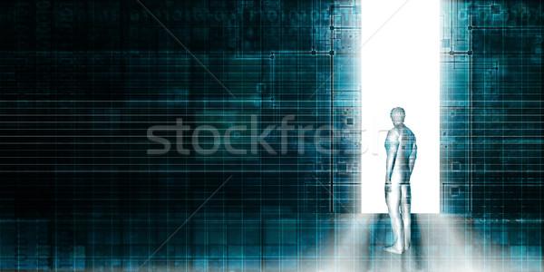 Digital portal acessar porta porta Foto stock © kentoh