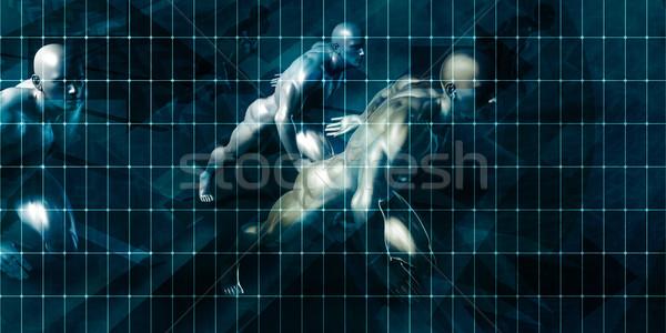 Entegre yazılım kurumsal dijital şirket Stok fotoğraf © kentoh