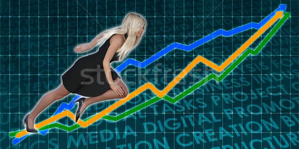 Racing to Success Business Executive Woman Stock photo © kentoh