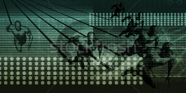 Stok fotoğraf: Bütünleşme · veri · teknoloji · arka · plan · ağ