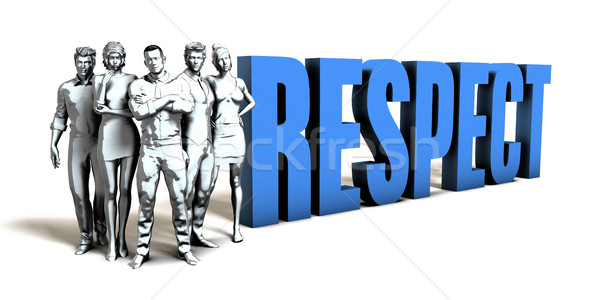 Respect Business Concept Stock photo © kentoh