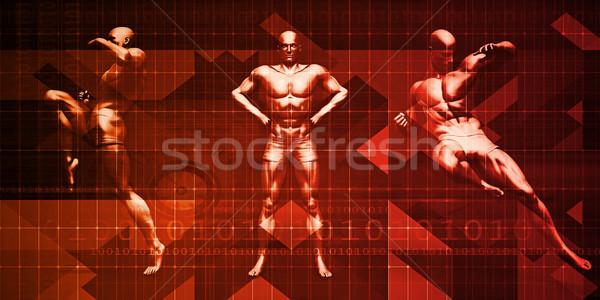 Fitness szkolenia muay thai atakować stanowią sztuki Zdjęcia stock © kentoh