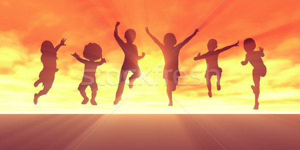 Summer Break School Holidays Stock photo © kentoh