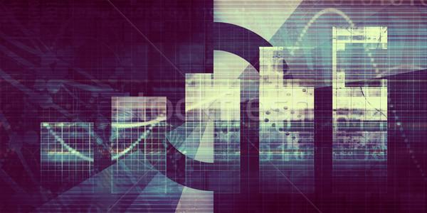 Technológia üzlet oszlopdiagram absztrakt internet háttér Stock fotó © kentoh