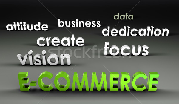 E-Commerce at the Forefront Stock photo © kentoh