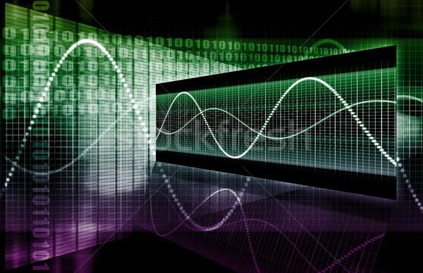 Finansów arkusz kalkulacyjny tech wykres sztuki streszczenie Zdjęcia stock © kentoh