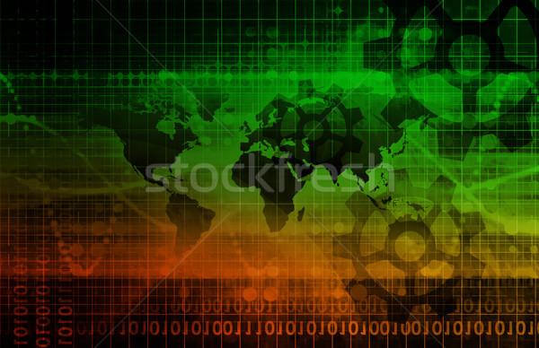 Global bütünleşme iş Internet teknoloji Stok fotoğraf © kentoh