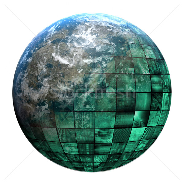 Stock photo: Business Technology Global Network