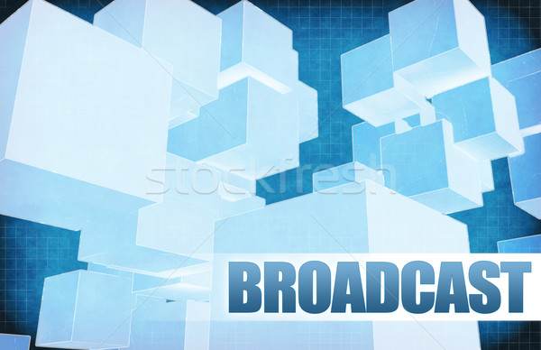Broadcast on Futuristic Abstract Stock photo © kentoh