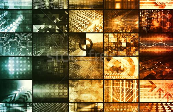 Zdjęcia stock: Technologia · informacyjna · Internetu · tle · bezpieczeństwa · internetowych · przemysłu