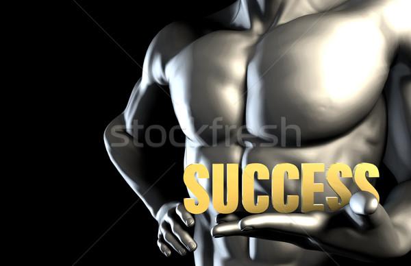 успех деловой человек бизнеса технологий корпоративного Сток-фото © kentoh