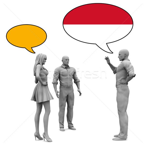 学ぶ インドネシアの 文化 言語 女性 友達 ストックフォト © kentoh