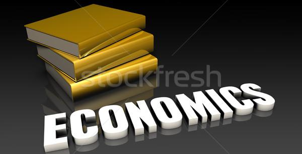 Ciencias económicas educación libros libro web Foto stock © kentoh