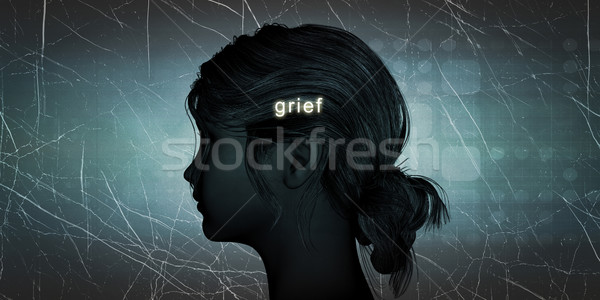 Woman Facing Grief Stock photo © kentoh