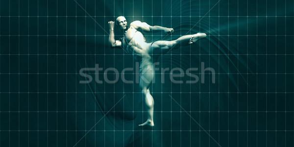Opleiding motivatie inspiratie kunst fitness achtergrond Stockfoto © kentoh