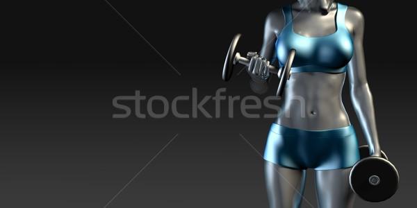 Female Athlete Stock photo © kentoh